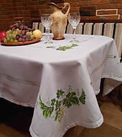 Скатерть с ручной вышивкой Виноград, Dmc