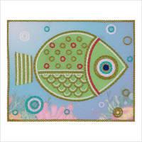"""Схема для вышивки декоративными швами """"Рыбка"""""""