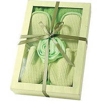 Комплект Для Ванны Arya С полотенца и тапочки 70х100 3 пр. Saffron