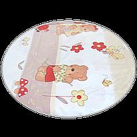 """Простынь на резинке (БЕЗ ОСНОВНОГО РИСУНКА) в детскую кроватку """"Мишка садовод"""" 120х60 см, ТМ Ромашка Бежевый"""