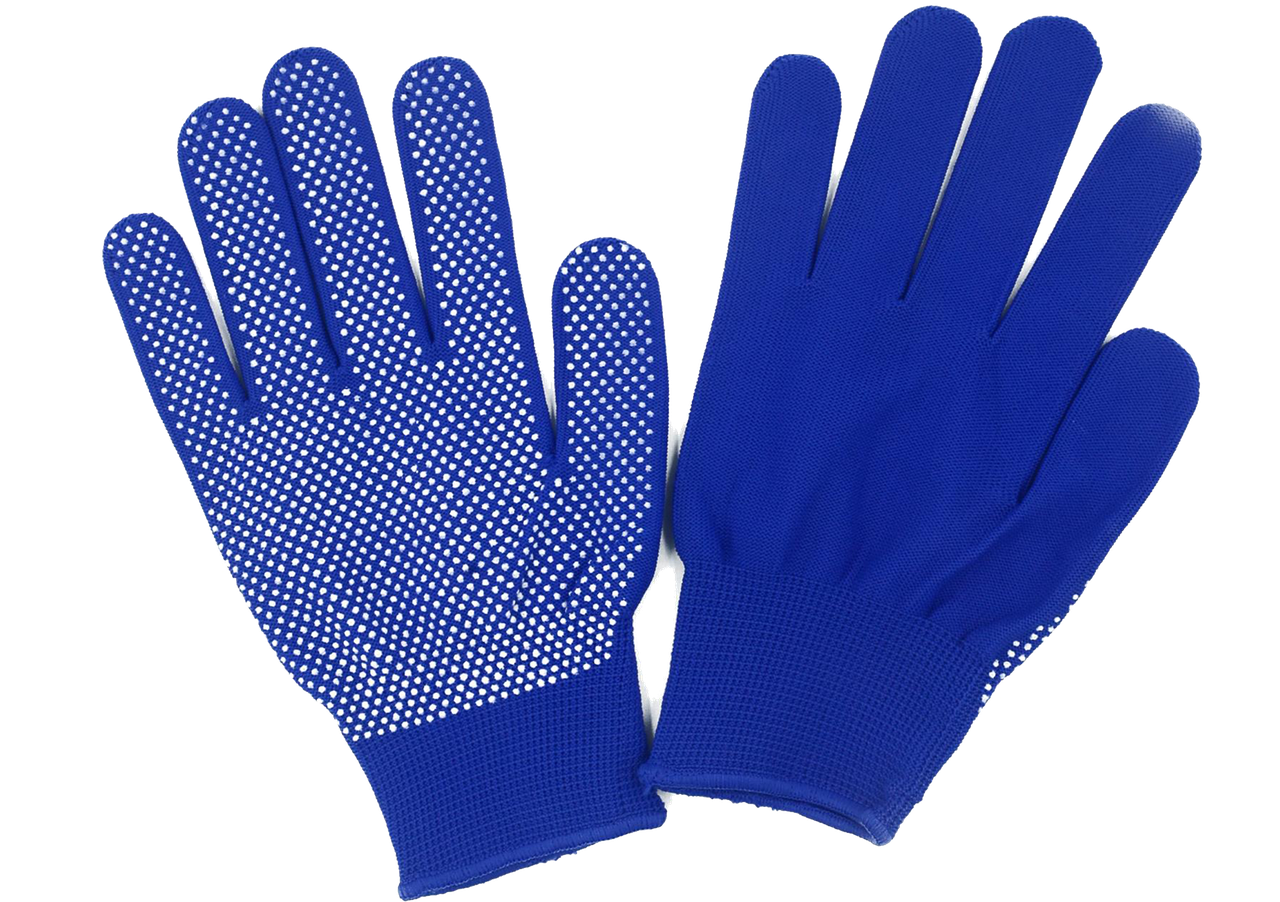 Перчатки нейлоновые синие