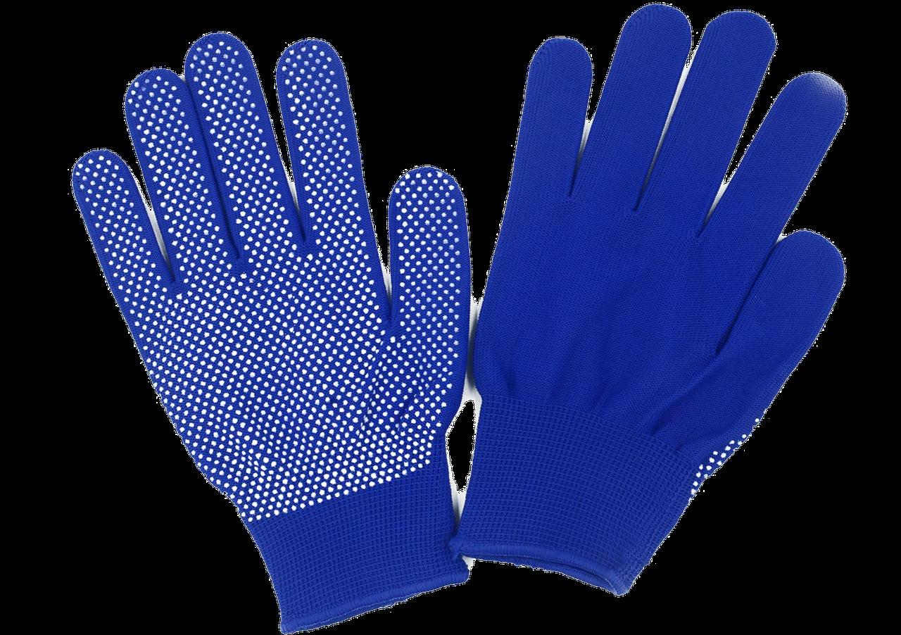 Рукавички нейлонові сині
