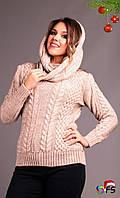 Вязаный свитер с хомутом Косичка Турция Цвета 0911 СО