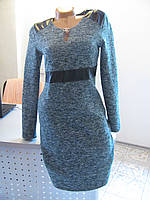 Платье твидовое теплое, р.44 код 2848М