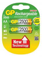 Аккумуляторы GP Batteries AA (R6) 2500mAh NiMh 2шт (GP250AAHC-UC2),1.2V