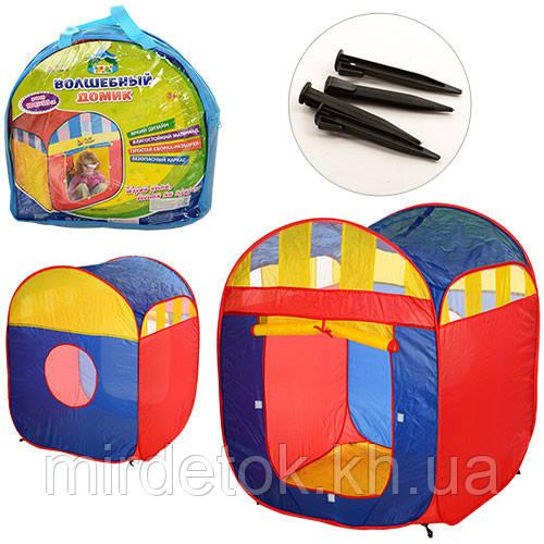 Детская палатка  M 0507 Куб с занавеской