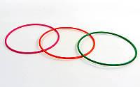 Обруч цельный гимнастический пластиковый UR PK-5048-89 (d-89см, цвета в ассортименте)