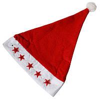 Шапка Деда Мороза со звездами мигающая