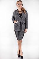 Деловой женский костюм юбка и жакет в 2х цветах AL 14027