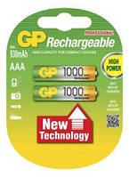Аккумуляторные батареи GP AAA (R03) 1000mAh NiMh 2 шт (100AAAHC), 1.2V