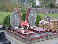 Надгробный комплекс из двух видов гранита К-014