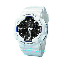 Часы Casio G-Shock GA GA-100 WHITE WITH BLACK AAA