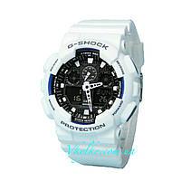 Часы Casio G-Shock GA-100 WHITE WITH BLACK AAA