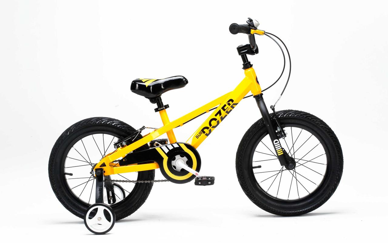 "Велосипед RoyalBaby BULL DOZER 16"", OFFICIAL UA, желтый"