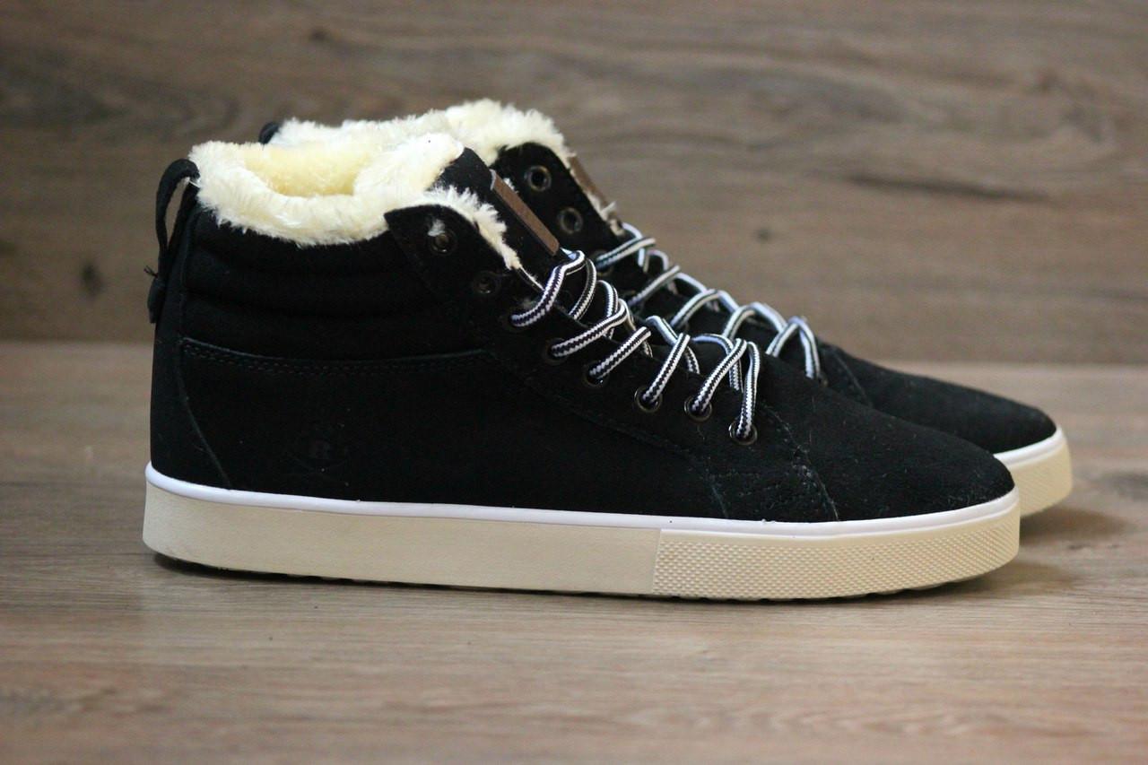 Кроссовки в Стиле Adidas Ransom Fur Black (С Мехом) Мужские Зимние ... a9f6dc6df7b64