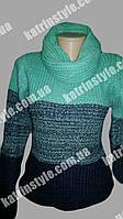 Женская вязаная кофта в комплекте с шарфом-хомут