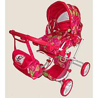 Детская игровая коляска для кукол Маша и Медведь ММ-1008-2, трансформер, 4 положения, переноска, 3+