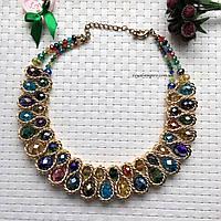 """Шикарное массивное ожерелье """"Голд"""" в красивой упаковке."""