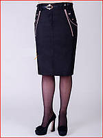 Юбка женская офисная или для учебы классическая, высокое качество, р.46(на 44) код 4845М