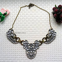 """Ожерелье """"Кристалл"""" сплав металлов с кристаллами."""
