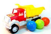 Машина Самосвал с 6 шариками, габариты:довжина - L - 310 мм, B – 120 мм, H – 175 мм (Ч)