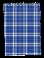 Блокнот на пружині зверху, А-5, 48 арк, клітинка, картонна обкладинка,синій BM.2470-02