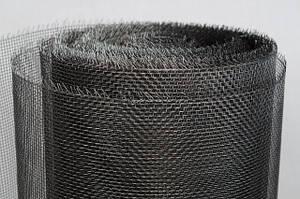 Сетка тканая из черной проволоки