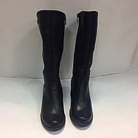 Сапоги зимние женские из натуральной кожи на  каблуке 4 см.