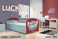Детская кровать 140x80 Lucky с ящиком