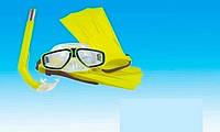 Набор для плавания 11313 (48/2) /маска, трубка, ласты/ 3 цвета, в кульке