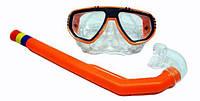 Набор для плавания 65102 (96/4) маска,трубка, 3 цвета, в кульке, 20см