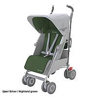 Коляска прогулочная Maclaren Techno XLR New Silver/Highland Green, серый/зеленый