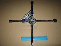 Ключ крест усиленный, с центр. пластиной, хром 17X19X21X1/2 мм.  arm-1/2