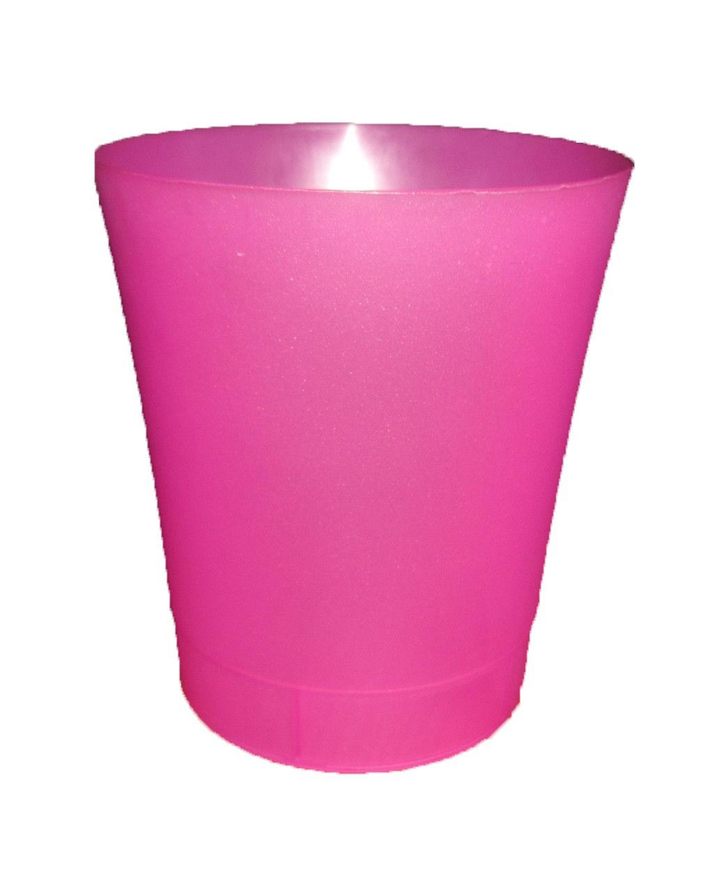 "Вазон ""Орхидея""  розово-прозрачный V=0,9л (d=12,5см,h=14см)  ""Ламела"""