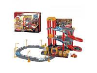 Детский трех-ярусный гараж с машинками