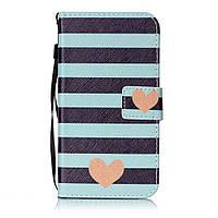 Чехол книжка TPU Wallet Printing для LG K10 K410 Stripes Hearts
