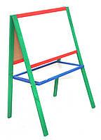 Мольберт деревянный двухсторонний цветной (4 ноги) 110х60х40 РУДИ