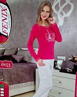 Женский хлопковый костюм пижама