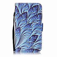 Чехол книжка TPU Wallet Printing для LG K10 K410 Feathers