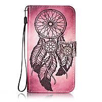 Чехол книжка TPU Wallet Printing для LG K10 K410 Pink Dream Catcher