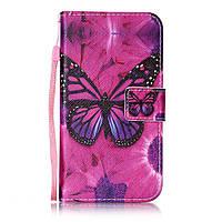 Чехол книжка TPU Wallet Printing для LG K10 K410 Beautiful Butterfly Flower