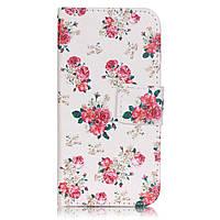 Чехол книжка TPU Wallet Printing для LG K4 K120 Pretty Flowers
