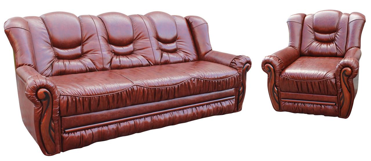 "Комплект кожаной мебели ""Паж"". (3+1)"