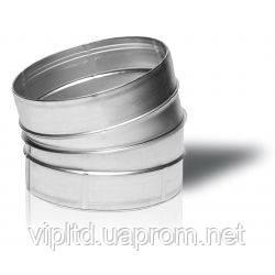 Отвод 15°оцинкованный вентиляционный круглый 15-150, Вентс, Украина
