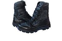 Ботинки М305 чёрные с кордурой камуфляж