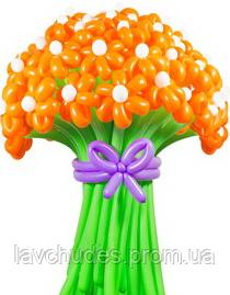 Букет из воздушных шариков, цветы из воздушных шариков. В букете 20  цветков - ЛавЧудес  в Киеве