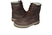 Ботинки М108 нубук коричневые зимние