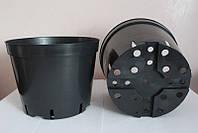 Горшок для рассады 1л,(13x10.4см),черный, 500 шт\уп (пр. Польша (Kloda)