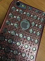 Объемный силиконовый чехол 3D iPhone 6SPlus/6Plus, Rose Gold
