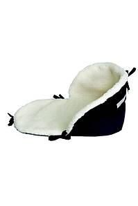 Подстилка для санок на овчине черная
